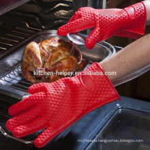 Wholesale Custom Design Kitchen Cooking Heat Resistant Durable Silicone BBQ Gloves/Silicone Grill Oven BBQ Glove/Oven Mitt