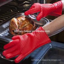 Персонализированная кухонная плита, изготовленная по индивидуальному заказу, термостойкая прочная силиконовая перчатка для барбекю / силиконовая решетка для гриля BBQ / Mitt