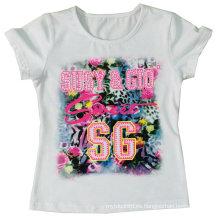 Camiseta popular de la muchacha de los niños en la ropa de los niños Sgt-047