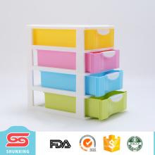 Office school supplies cajones de almacenamiento de plástico de 4 capas en venta