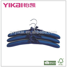 Bulk set of 3pcs N/T taffeta padded clothes hanger in luxious color