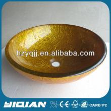 Популярная золотая модная круглая миска для мойки стеклянного сосуда