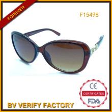 Échantillon gratuit lunettes de soleil pour femmes Chine usine (F15498)