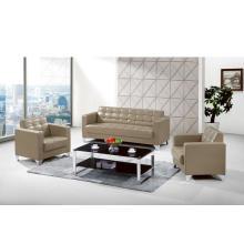 Canapé-lit inclinable en cuir avec trois sièges
