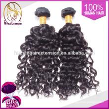Guangzhou fuente grado superior precio del pelo humano, peluca moño trenzado de Wift