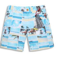 Pantalones cortos de los pantalones cortos del boxeador de la impresión de la playa del estampado de mar de los niños pantalones cortos