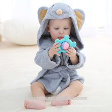 High quality mouse Hooded Baby Towel, Natural Cotton,Hooded Kids bathrobe CT-023 wholesale China Supplier