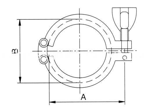 sanitary double pin clamp2