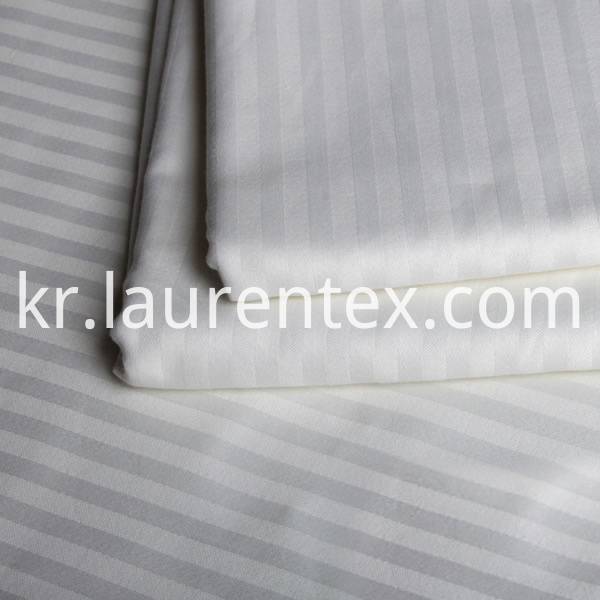 cotton stripe white fabric