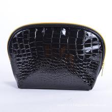 Lady Fashion Black Stone PU Cosmetic Makeup Clutch Bag (YKY7529)