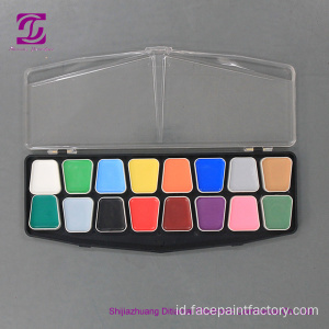 16 warna Water based Christmas face paint kit