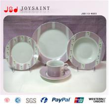 Ensembles de dîner de porcelaine de haute qualité avec la soucoupe de tasse de Cofffee de plat pour l'hôtel