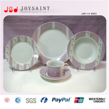 Jantares de porcelana de alta qualidade com placa Cofffee Cup Saucer para o hotel