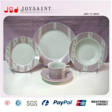 Diseño creativo Impresión personalizada placa de cerámica Dinnersets (JSD113-R023)