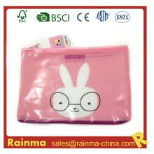 Bolsa de lápiz de PVC con cremallera