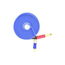Blue RCA Soft Aluminum Tattoo Clip Cord
