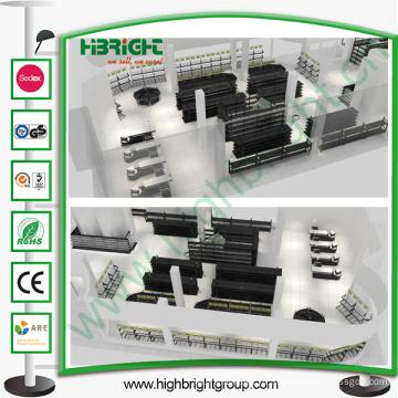 Оборудование супермаркета с дизайном макета