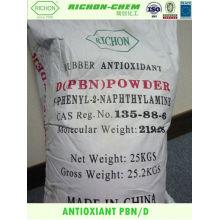 Antioxidantes del mejor precio para el polvo adhesivo de fusión en caliente N-fenil-2-naftilamina PBN ANTIOXIDANTE D