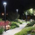 25W Outdoor Solar Led Garden Landscape Post Lights