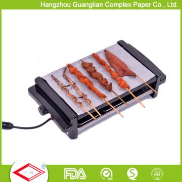 2-стороны Силиконизированная бумага барбекю жаркое Бумага для приготовления пищи