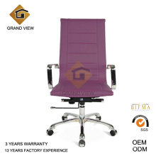 Purple Leather Swivel Boss Chair (GV-OC-H132)
