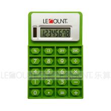 Calculadora dobrável do silicone do poder dos dígitos de 8 dígitos com ímã (LC525)