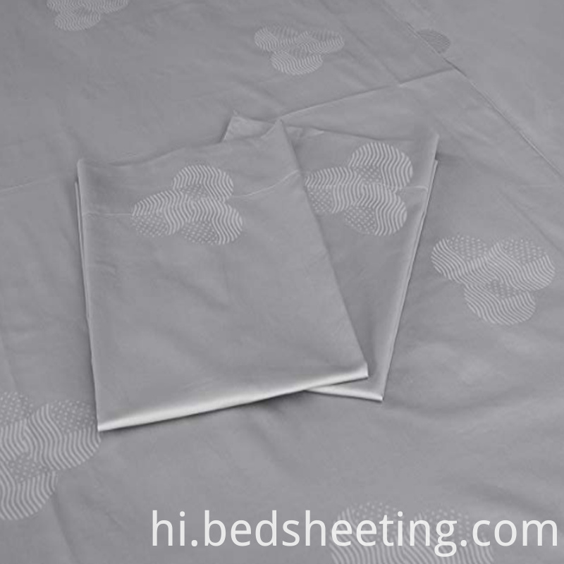 300t Cvc Jacquard Bed Sheets