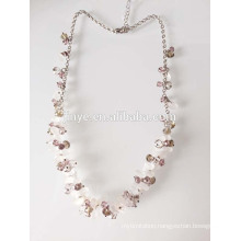 white natura crystal beaded sweater chain necklace