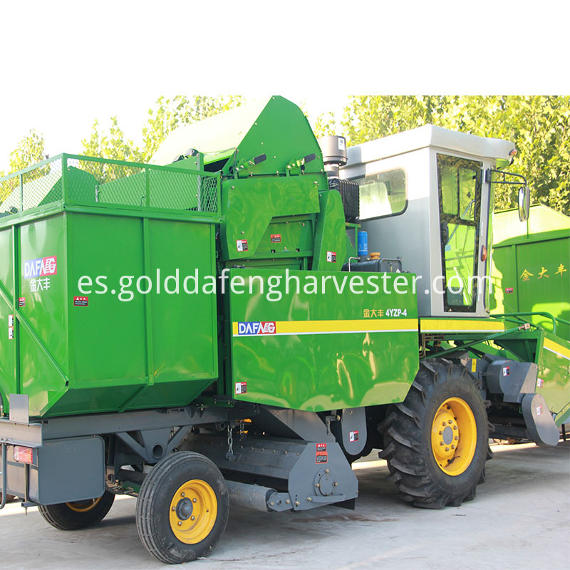 4 rows corn maize harvester