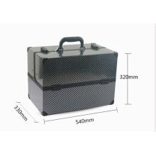 Alumínio cosmético preto da caixa da beleza do caso