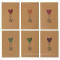 Цветастые конструкции воздушного шара сердца любят коричневые поздравительные открытки бумаги Kraft валентинки