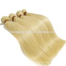 Brazilian virgin weave bundles golden blonde silky straight human hair extension new premium