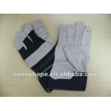 cow split leather gloves