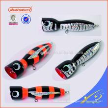 WDL042 señuelos para la pesca popper pesca decorativa de madera señuelo de pesca señuelo de madera