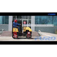 Rodillo compactador de vibración de compactador de asfalto de 1 tonelada (FYL-880)