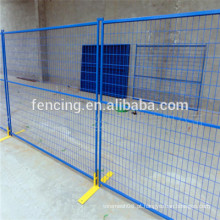 Melhor Preço pvc Revestido Amarelo Cerca Temporária / Painéis de Cerca De Metal Soldado Temporária para Venda (preço de fábrica)