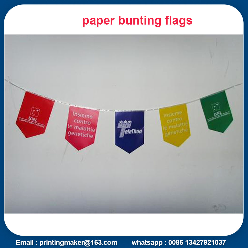 Custom Multi-color Triangle Bunting Flags Banners