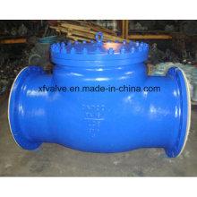 Стандартный стальной литой стальной фланцевый обратный поворотный клапан Wcb