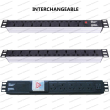 19 Inch Interchangeable Type Universal Socket Network Cabinet and Rack PDU (2)