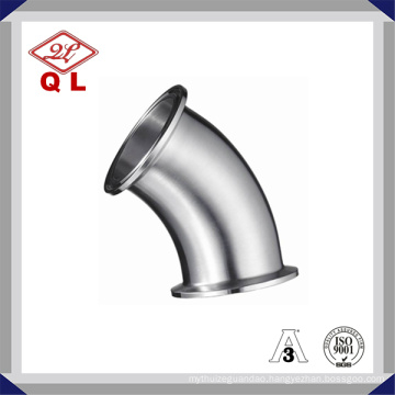 45 Degree Bend Sanitary Stainless Steel Pipe Fitting Clamped Elbow