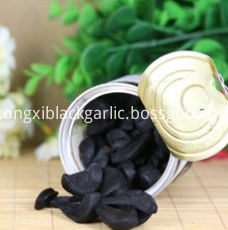 peeled black garlic