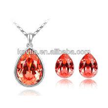 Mode diamant rouge bijoux en cristal autrichien Ensemble de bijoux les plus chauds en Europe