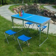 Grupo de alumínio de acampamento da cadeira de tabela do acampamento da mobília