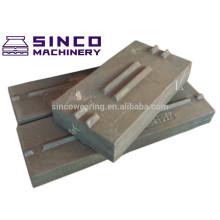 High Chromium 26% barre de soufflage en acier coulée pour pièces détachées à concassage à impact