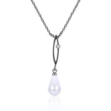 Zircon und Perlen-Halskette Heiße Verkauf neue Entwurfs-Perlen-Halskette