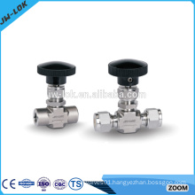 Forged industrial ferrule fitting needle valve