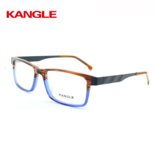 2017 Acetate Gentlemen Acetate Optical Frame Eye Glasses Frames With Metal Temple