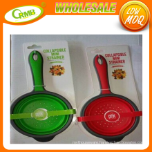 New style collapsible mini strainer with TPR handle with Silicone blade