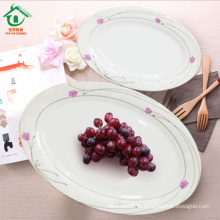 Оптовая овальная свадьба Белый фарфор Ужин пластины керамические пластины