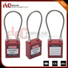 Elecpopular Nuevo producto de la llegada Pequeño cable Cerradura del alambre Marcas famosas con la llave normal del OEM